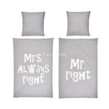 TASSEN MRS ALWAYS RIGHT und MR RIGHT Hochzeit Geschenk Braut Heiraten NEUWARE