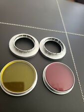 Kodak 31.5mm to Series VI 6 Adapter Ring Holder Red Yellow set of 2 1 1/4 in