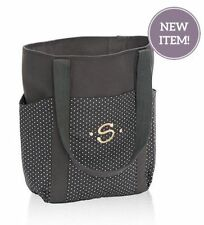 Thirty one go to Tote utility shoulder hobo bag 31 gift City Charcoal swiss dot