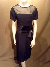 Vintage 1950's Betsy & Adam Black Formal Cocktail Dress Sz 11/12