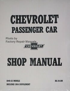 Service Repair Manuals For 1953 Chevrolet Bel Air For Sale Ebay