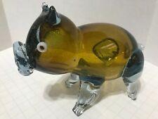 "Vintage Murano Millefiori Art Glass Pig 5 1/2 "" Inch"