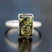 Bernstein Silber 925 Ring Sterlingsilber Damen-Schmuck verschiedene Groessen R46