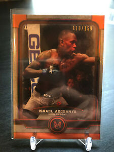 TOPPS 2019 UFC MUSEUM COLLECTION ISRAEL ADESANYA 118/159 BRONZE