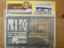 Ratio 244 2mm/N-gauge signal box interior and etched brass windows - unopened