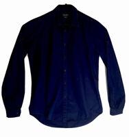 ZARA MAN Slim Fit Shirt Size Medium Long Sleeve Blue EUR M USA M