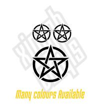 Pentagram circled vinyl sticker decal laptop ipad #2 car (window optional)