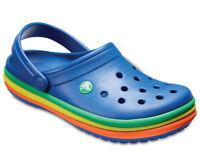 Crocs Clog Ciabatta Uomo - CB Rainbow Band - Azzurro Multicolor 205212