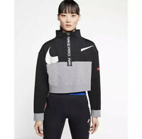 Nike Pro Get Fit Fleece Half-Zip Training Jacket CJ3466-010 Women's Size Medium