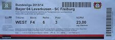 TICKET 2013/14 Bayer 04 Leverkusen - SC Freiburg