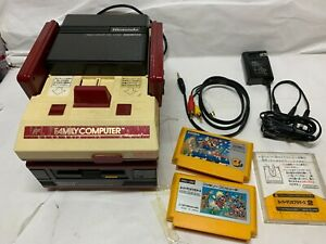 Nintendo AV Famicom and Disk system console with games  -FREE SHIPPING-