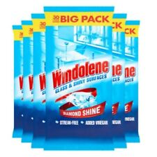 Windolene Glass and Shiny Surfaces Cleaner Wipes, 30 Wipes, Pack of 6