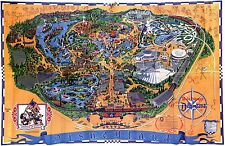 1976  Disneyland Map REPRODUCTION POSTER 24X36 Inches Looks beautiful Nostalgia
