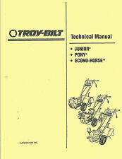 Troy Bilt Junior,Pony,Econo-Horse Technical Manual