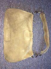 MIU MIU Dark beige Suede Handbag Purse Shoulder fb8670be67927