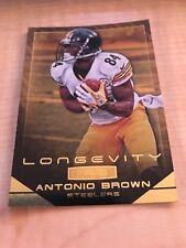 2014 Rookies and Stars Longevity Antonio Brown Pittsburgh Steelers Gold Card #46