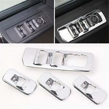 Accessories Window lift switch panel Chrome Cover trim For 2015-2017 Ford F150