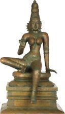 "Masterpiece Parvati Uma Jai God Of Love Statue 25.7""Bronze Vintage Figure 34.8KG"