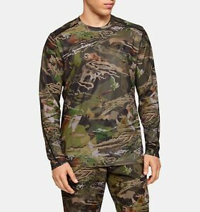 UA Under Armour Men's Long Sleeve Shirt Size M ISO-Chill BrushLine Forest Camo