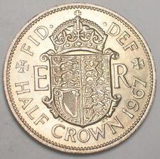 1967 UK Britain British Half 1/2 Crown Shield Coin XF+