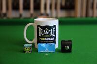SNOOKER MUG + 1 x Pro-Chalk + Chalk Holder & Ball Marker, Chesworth Cues