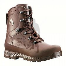NEW - BRITISH ARMY - HAIX Combat High Liability Brown Boots Issue Leather Cadet