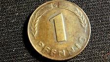 Münze Coin 1 Pfennig 1948 G Bank Deutscher Länder, vz+, unc.