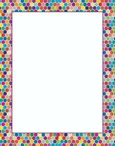 Colorful Hexagon Border Letterhead - 60 Sheets Per stationery Pack - B6516