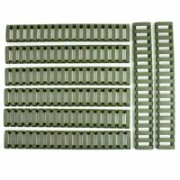 8 Pieces Heat Resistant Weaver Picatinny Ladder Rail Cover - OD Green