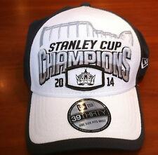 Los Angeles Kings New Era Flex Fit Hat Cap NHL 2014 White Stanley Cup Champions