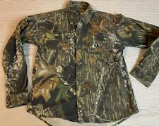 Mossy Oak Break Up Camouflage Junior Explorer Long Sleeve Shirt Boys Size XL