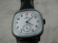 WATCH IWC SCHAFFHAUSEN CALIBER 2602 15 Jewels Watch Men Mechanical Leather
