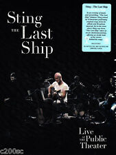 STING - THE LAST SHIP: LIVE AT THE PUBLIC THEATER, ORG 2014 EU BLU-RAY, SEALED!