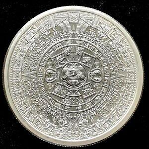 The Aztec Calendar Stone 2 oz .999 Silver Round Cuauhtemoc Eagle Snake