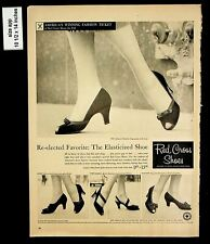 1956 Red Cross Shoes Women Heeled Shoes Vintage Print Ad 8224