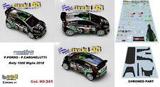 DECAL  1/43 -  FORD FIESTA WRC -  PORRO   - Rally 1000 MIGLIA  2018