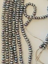 2 Strands 3 to 3.5 MM Cultured Peacock Black Pearls 320 + PEARLS