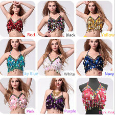 a2480142521cfb AU NEW Sequins Beads Top Bra Gold Coins Belly Dance Costume Dancing Clothes  Bra