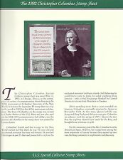 #2624-2629 Columbus FULL SET of 6 Souvenior Sheets - Mounted on PCS Info Pages