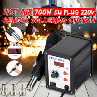 220V Power 700W Digital Soldering Iron Station Desoldering Hot Air Gun SMD