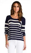 NWT $148 Soft Joie Bravo Lightweight Nautical Tee/Lightweight Sweater; M