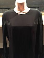 Lauren Ralph Lauren NEW Black Women's Size 4 Sheer-Sleeve Sheath Dress $250