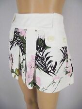 CUSTO BARCELONA Mini Skirt Floral & Bird Theme Pleat Front Design Size 8 B3B