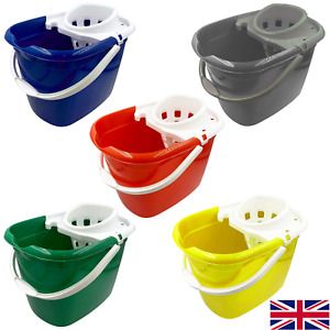 12L Mop Bucket Wringer Industrial Mopping Floor Cleaning Plastic Commercial Home