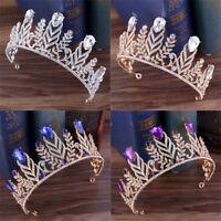 Handmade Rhinestone Leaves Bridal Tiaras Pageant Wedding Hair Accessories Crown