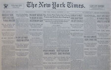 9-1933 September 19 HITLER CONVOKES COUNCIL ON POLICY. PARIS ARMS PLAN TAKEN UP