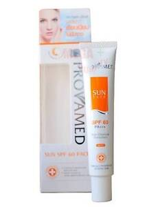 PROVAMED SUN FACE Non Chemical Sunscreen BEIGE Skin SPF 60 PA+++ Protected 30g