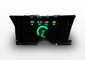 1992-1994 Chevy Truck Digital Dash Panel Green LED Gauges For LS Swap Made In US
