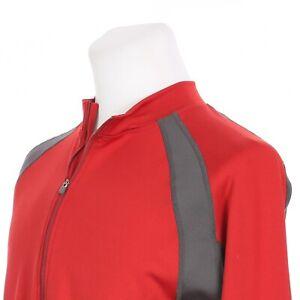 Novara Long Sleeve Full Zip Insulated Cycling Bike Jersey Mens Medium Red Gray