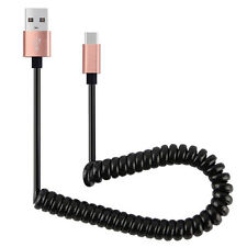 Micro USB Coiled Retractable Data Sync Charger Cord Cable For IOS iphone 5 6 7